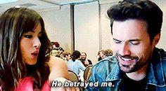 He betrayed me. || Chloe Bennett, Brett Dalton || SDCC 2014 || 245px × 135px || #animated #cast #quotes