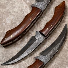 UNIQUE-HANDMADE-DAMASCUS-STEEL-FIXED-BLADE-HUNTING-KNIFE-TALON-BY-BRETT-MARTIN