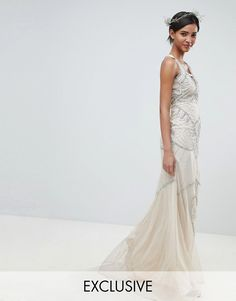 Order Amelia Rose All Over Embellished Cross Back Maxi Dress online today at ASOS for fast delivery, multiple payment options and hassle-free returns (Ts&Cs apply). Get the latest trends with ASOS. Nude Dress, Asos Dress, Jumpsuit Dress, Bridesmaid Outfit, Lace Bridesmaid Dresses, Wedding Dresses, Bridesmaids, Ball Dresses, Formal Dresses