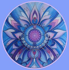 Mandala in blues and violets Mandala Art, Mandala Drawing, Mandala Coloring, Flower Of Life, Sacred Art, Silk Painting, Fractal Art, Sacred Geometry, Art Drawings