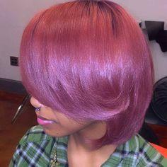 Hey Color #HairByChantelleN #Bob #BobLife #TeamNatural #NaturalHair #Press #SilkPress #AtlStylist