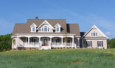 Sophistication and Country charm combine beautifully in this exquisite four-bedroom home with wrapping front and back porches. See the Hollyhock Plan on the House Plans Blog http://houseplansblog.dongardner.com/plan-of-the-week-the-hollyhock-864/ #farmhouse #Country #home