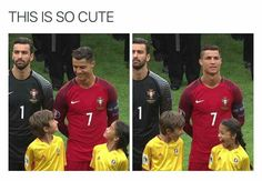 I'm not Ronaldo fans, but the two kids is just so cute.