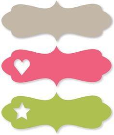 Silhouette Online Store - View Design #7230: cute heart & star labels