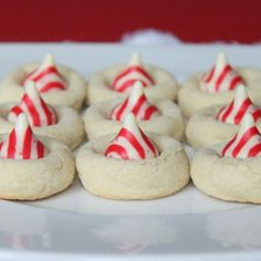 Peppermint Kiss Cookies & Peanut Butter Kisses