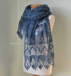 WISTERIA Crochet shawl pattern pdf