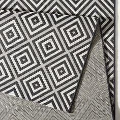 In- und Outdoor Teppich Bougari Karo Schwarz | Outdoorteppich schwarz | Bougari | Outdoorteppich Rautemuster