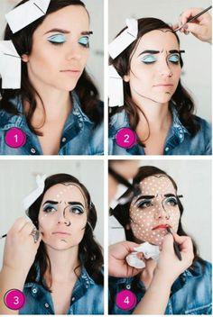 pop art makeup xoxoalexisleigh happy halloween pinterest pop art makeup and happy halloween - Halloween Makeup For Beginners