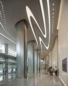 Visions of the Future // Wangjing Soho - Architecture - Zaha Hadid Architects Zaha Hadid Interior, Zaha Hadid Architecture, Architecture Details, Interior Architecture, Modern Buildings, Beautiful Buildings, Soho, Zaha Hadid Design, Deco Restaurant