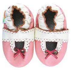 Momo Baby Infant Girls Lacey Mary Jane Shoe - Pink