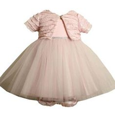 CLEARANCE: Bonnie Jean Pink Ballerina Dress with Jacket.  See more - http://stuffmomsandkidslikebest.blogspot.com