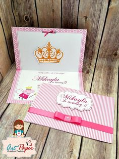 10 princess Peppa Pig Invitation Crown and name by ArtPaperParty