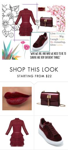 """""""Marchintobeauty"""" by lavanya28634 on Polyvore featuring Alexander McQueen, Krystal and Populaire"""