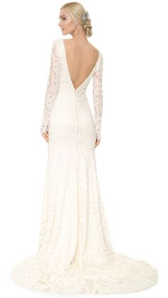 Long Sleeve Lace Wedding Dress    Nicole Lace Gown