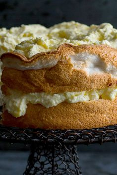 NYT Cooking: Adding preserved lemon juice to lemon curd is the brilliant brainchild of Samantha Kincaid, the pastry chef of the restaurant High Street on Hudson. It adds a complex brininess to what can be an overly sweet citrus custard. In this recipe, the curd is lightened with a little whipped cream and used to frost and fill a lemon-flavored angel food cake. It's a stunning dessert that's bright, rich and light all at once.