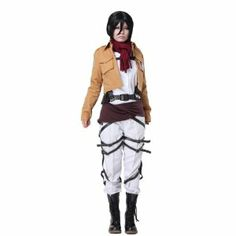 新番♪高品質コスチューム・コスプレ 進撃の巨人(しんげきのきょじん、attack on titan) 駐屯兵団服  コスプレ衣装 サイズ指定可 コスチューム、コスプレAttack on Titan Shingeki No Kyojin Mikasa Ackerman Cosplay Costume (XL)