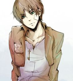 Here you see Eren in his natural hotness :')