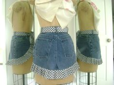 Denim apron made from a pair of jeans