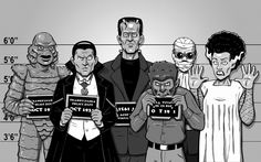 Universal Monsters by Brian Maze