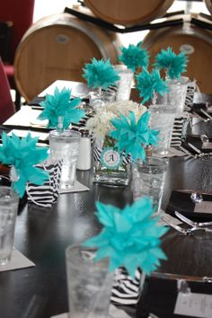 Party Pretty Design: Teal and Black Bridal Shower