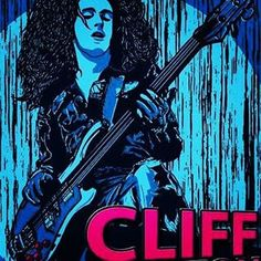 Cliff Burton de #Metallica para @javisoriano_ #illustration #Digital #Photoshop #artwork #art #print #Enriro #Wacom #Blue #Pink #ROCK #Bass #Music