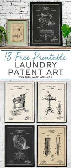 Laundry Room Vintage Patent Prints Laundry Room Vintage Patent Prints MissMorelli MrsRyner Patent-Art Laundry Room Vintage Patent Prints Free Vintage Blueprints and patent drawings nbsp hellip Vintage Room, Vintage Wall Art, Vintage Walls, Vintage Home Decor, Vintage Laundry Rooms, Bathroom Vintage, Shabby Vintage, Diy Wall Art, Diy Wall Decor