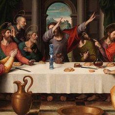 Vocal noise by Appropriation Art, Classical Art Memes, Art Jokes, Funny Paintings, Photocollage, Wow Art, Arte Pop, Renaissance Art, Psychedelic Art
