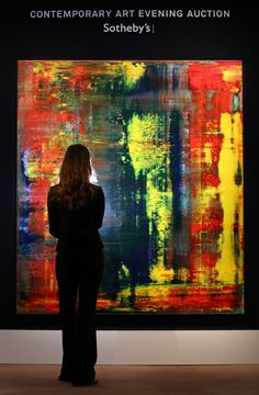 """Gerhard Richter's """"Abstraktes Bild"""" - $34.2 million ARTIST: Abstract and photorealist painter Gerhard Richter (1932-present). ARTWORK: A squeegee painting created in 1994 and owned by famous British musician, Eric Clapton. It was bought by Clapton for £2million ($3.2 million) in 2001 and sold for 10 times the"""