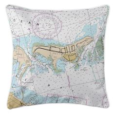 FL: Key Biscayne, FL Nautical Chart Pillow