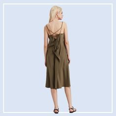 Gorgeous khaki #mididress perfect for all body curves - Click to visit Le-Contour.Com for more women's dresses #womensfashion #womenswear #ootd #singapore #onlineshopping #boutique #clothing #style #onlineboutique #sgfashion #sgstyle #ootdsg