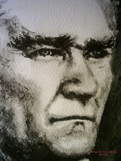 https://flic.kr/p/dbUFwo | Atatürk Lavi(Ayrıntı) | Çini mürekkebi ile 300 gr suluboya kağıdına ıslak teknik ile yapıldı..Painted with indian ink, wet on wet technique on 300 gr watercolor paper.