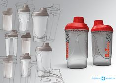 Our client request was to redesign their shaker and bottle in an innovative and striking way. In the production of the cap and lid a softer type of plastic was used. The result is a perfect fit between the screw cap, lid and the bottle. This unique innovation completely prevents water leakage.