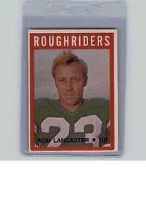 Ron-Lancaster-1972-O-Pee-Chee-CFL-79-NM-e5450 Saskatchewan Roughriders, Lancaster, Baseball Cards, Stars, Sterne, Star