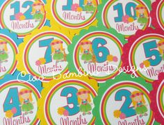 The Original Baby's 1st Year Tags  Luau Collection by ciaobambino, $10.00