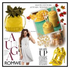 """Yellow details in set !"" by lader ❤ liked on Polyvore featuring ROMWECONTEST"
