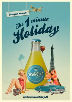 Good idea. Drinking Orangina is like going to France for a minute.