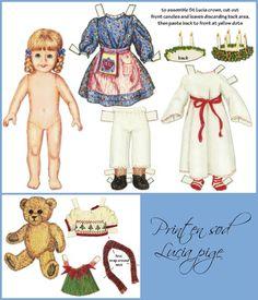 Lucia påklædningsdukke
