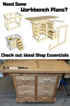 See how you can get plans for this work bench which includes 8 drawers clamp hangers wooden drawer slides and a plywood top. Comes in a bundle with additional work shop and woodworking plans check it out! Unique Woodworking, Woodworking For Kids, Woodworking Toys, Easy Woodworking Projects, Wood Projects That Sell, Easy Wood Projects, Project Ideas, Diy Wooden Toys Plans, Diy Kids Furniture