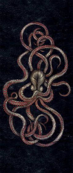 Octopus skateboard design by ZSO (Sara Blake) #octopus #tentacles - Carefully selected by GORGONIA www.gorgonia.it