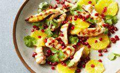 Chicken, Orange and Pomegranate Salad