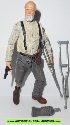 Todd McFarlane toys action figures THE WALKING DEAD 2014 series 6 HERSHEL GREEN 100% COMPLETE with all weapons, accessories, and parts condition: excellent. nice paint,nice joints.nothing broken, dama