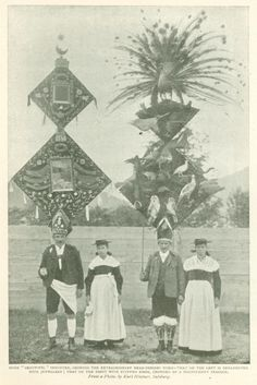 Perchten Dancers showing extraordinary head-dresses