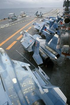 "The Su-27K entered service in the mid-1990s. From December 1995 to March 1996, the Admiral Kuznetsov set sail in the Mediterranean Sea, carrying two Su-25UTGs, nine Ka-27s, and 13 Su-27Ks, However, the aircraft officially entered service 31 August 1998 with the 279th Naval Fighter Regiment of the Northern Fleet based at Severomorsk-3, by which time it was officially designated the ""Su-33"".The Russian Navy currently operates 19 Su-33s, however in the long term these need to be replaced."