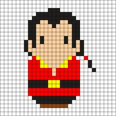 Gaston Cross-Stitch: Might be able to use this on a plastic canvas doll case!??
