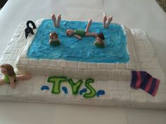 Synchronized swimming cake