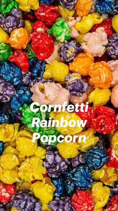 Rainbow Popcorn, Candy Popcorn, Flavored Popcorn, Popcorn Recipes, Candy Recipes, Cereal Treats, No Bake Treats, Cinnamon Popcorn, Colored Popcorn