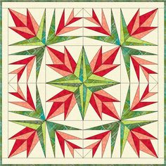 Two new paper piecing patterns you'll love. Christmas cactus quilted table topper and Butterfly Garden quilt block.
