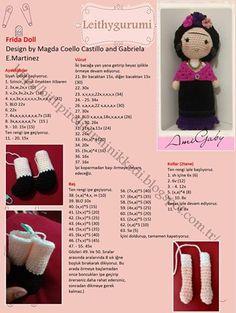 Frida doll GabrielaE. Martinez Magdalena Coello Amigurumis crochet