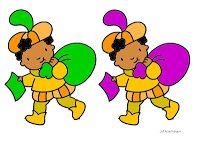 1-1-relatie: Breng Zwarte Piet bij de juiste schoorsteen (+ kleurenkennis)