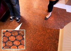 Penny Tile floor at The Standard in NYC